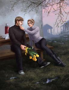 8 марта (художник: Ирина Мальцева)