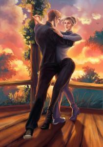 Танец Алика и Ирины (художник: Ирина Мальцева)